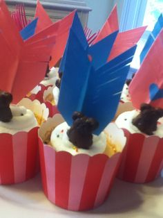 BRAVE arrow cupcake toppers