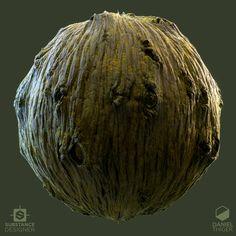 ArtStation - Old Tree Bark, Daniel Thiger