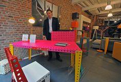 Lille : des meubles Meccano pour jouer comme les enfants / LA VOIX DU NORD