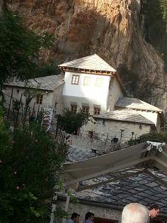 Tekija, Blagaj Bosnia, Cabin, Mansions, House Styles, Beautiful, Home Decor, Decoration Home, Manor Houses, Room Decor