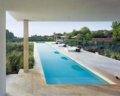 Long and Elegant Pool from Villa