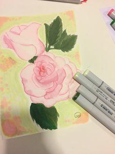 Flower copic colors
