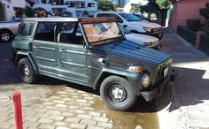 Saw a surprising number of Volkswagen Safaris still on the road in Mexico. Known as the Thing or in other markets. Volkswagen 181, Volkswagen Thing, Safari, Vehicles, Car, Automobile, Autos, Cars, Vehicle