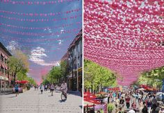 Creative art-instillation/canopy. Form and function.