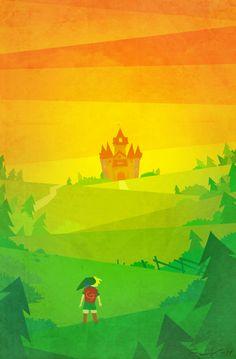 The Legend of Zelda 8bits colors. #Zelda  #8bits