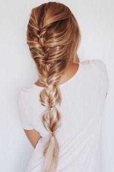 french braid into faux braid