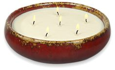 Unscented Saxon Candle, Oxblood | Light It Up | One Kings Lane