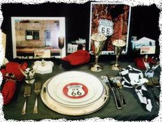 Route 66 Tablescaping Theme
