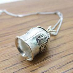 925 Sterling Silver Thai Silver Mantra Lettering Bells Pendant DIY Findings LFJ45
