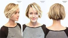 Anh Co Tran. So ridiculously cute I almost want to stop growing my hair out! Short Bob Hairstyles, Cool Hairstyles, Hair Inspo, Hair Inspiration, Medium Hair Styles, Short Hair Styles, Pelo Pixie, Short Hair Cuts, Summer Short Hair
