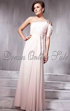 Move your mouse over image or click to enlarge  Amazing A-line Floor-length One Shoulder Multi Colours Chiffon Dress