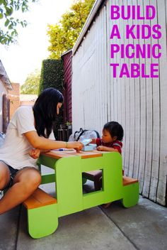 build a kids picnic table DIY