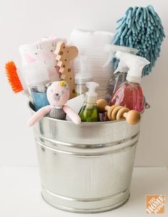 Keep all your cleaning supplies in a bucket for easy access and easy transport from room to room.