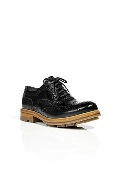 Black Brogue Shoes by JIL SANDER