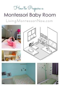 Common attributes of a Montessori baby room plus roundup of baby rooms and resource posts; includes information about floor beds for babies - Living Montessori Now Montessori Bedroom, Montessori Toddler, Montessori Homeschool, Montessori Classroom, Baby Bedroom, Kids Bedroom, Room Baby, Child Room, Nursery Room