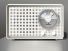 Braun Radio Illustration