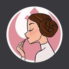 Lippenstift Leia - Star Wars - T-Shirt Star Wars Padme, Leia Star Wars, Star Wars Fan Art, Star Wars Quotes, Star Wars Humor, Carte Star Wars, Star Wars Desenho, Geeks, Star Wars Zeichnungen