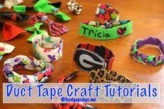 Duct Tape Bracelet Tutorial
