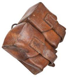 Vintage Yugoslavian army leather Mauser ammo double belt pouch military ammunition JNA Communist Soviet Era by ChevaldeGuerre on Etsy https://www.etsy.com/listing/208420631/vintage-yugoslavian-army-leather-mauser