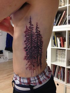 Evergreen tree tattoo / pine tree