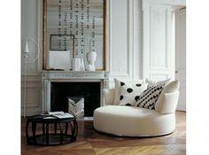 Salon noir blanc - fauteuil tout en rondeur
