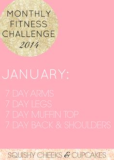 Squishy Cheeks & Cupcakes: Monthly Fitness Challenge: January
