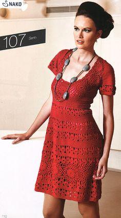 Vestido Vermelho, Gráficos/Receitas. ou Dress Red, Graphics / Recipes.
