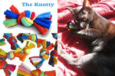 diy Cat Toys made from old t-shirts or fleece sweaters! Very nice as a gift for a cat person ; Diy Dog Toys, Cat Toys, Ferret Toys, Toy Diy, Cat Crafts, Animal Crafts, Diy Pour Chien, Diy Jouet Pour Chat, Animal Projects