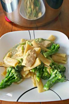 Green and White One Pot Pasta aka Broccoli Cheddar Chicken Pasta by A Kitchen Hoor