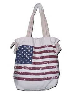 USA American Flag Print Beach Tote Bag with Mesh Webbed Handle *** You can find more details by visiting the image link.