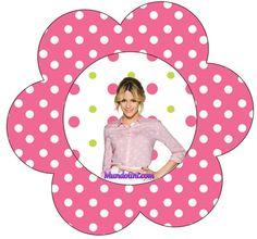 Flor topper etiqueta de Violetta candy Bar
