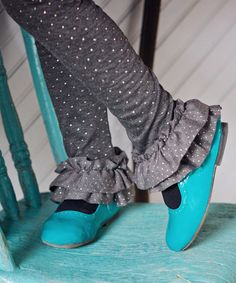 Look at this DreamSpun Charcoal Double Ruffle Leggings - Toddler & Girls on today! Double Ruffle, Toddler Girls, Rubber Rain Boots, Charcoal, That Look, Pairs, Leggings, Cotton, Amelia