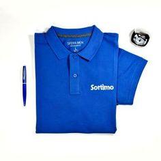polo sortimo azul vestir camiseta hombre