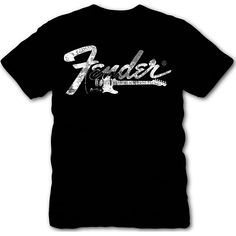 Fender Logo Side Guitar T-Shirt X Large