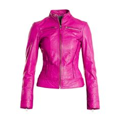 Hot pink Leather Jacket / I have to have this jacket to wear riding Cute Jackets, Jackets For Women, Vip Fashion Australia, Purple Fashion, Girly, Blazer Jacket, Pink Jacket, Jacket Style, Swagg