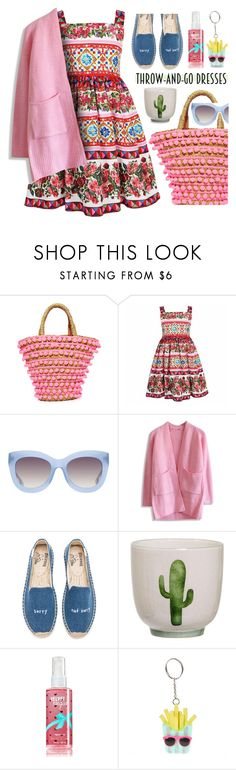 """""""Throw and Go...."""" by angiesprad ❤ liked on Polyvore featuring Mystique, Alice + Olivia, Chicwish and Soludos"""