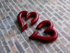 Heart Gauges by TheCreatorsCreations on Etsy, $26.00  red valentine gauge