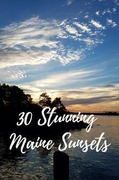 30 Stunning Maine Sunsets