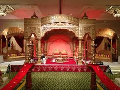 Photo by Maharaj events & Decoration, Pune Indian Wedding Outfits, Indian Weddings, Decoration For Ganpati, Wedding Stage Decorations, Wedding Mandap, Carving Designs, South Asian Wedding, Wedding Background, Indoor Wedding