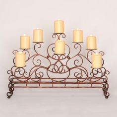 Our Scrolled Copper Fireplace Candelabra creates a warm, inviting glow in any space. The elegant scrolled design fits beautifully in front of most fireplaces. Ikea Fireplace, Fireplace Candelabra, Unused Fireplace, Fireplace Shelves, Fireplace Hearth, Fireplace Remodel, Fireplaces, Fireplace Decorations, Fireplace Ideas