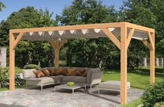 The pergola kits are the easiest and quickest way to build a garden pergola. There are lots of do it yourself pergola kits available to you so that anyone could easily put them together to construct a new structure at their backyard. Pergola En Kit, Building A Pergola, Small Pergola, Pergola Canopy, Pergola Swing, Deck With Pergola, Outdoor Pergola, Pergola Lighting, Wooden Pergola