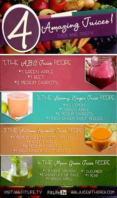 4 Amazing Juicing Recipes