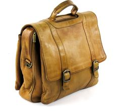 LIGHT BROWN DISTRESSED GENUINE LEATHER BRIEFCASE LAPTOP BAG MADE IN COLOMBIA #Unknown #BusinessCaseBriefcase