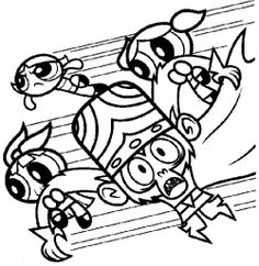 1000 Images About Powderpuff Girls On Pinterest Powder Puff Coloring Pages Printable