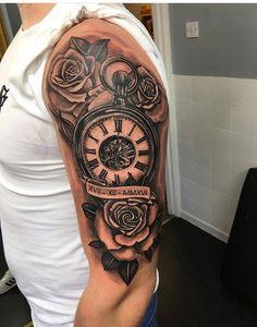 Tribal tattoo for guys shoulder half sleeves popular ideas Tattoos For Guys Badass, Rose Tattoos For Men, Half Sleeve Tattoos For Guys, Half Sleeve Tattoos Designs, Tattoo Designs Men, Mens Tattoos, Tribal Shoulder Tattoos, Mens Shoulder Tattoo, Tribal Tattoos