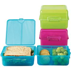 I've finally found a lunchbox container I like.  It holds a sandwich, fruit and snacks.  No more separate containers.  I'm hopeful ... :)