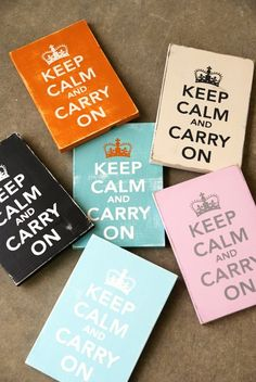 Keep Calm and Carry On SignSolid Wood by WordWhipped on Etsy, $20.00