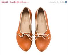 BACK TO SCHOOL New Alex Whiskey brown Flats Leather by TamarShalem, $151.20