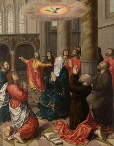 A work made of oil on panel. Museum, Pentecost, Art Institute Of Chicago, Religious Art, Renaissance, Christian, Artwork, Painting, World