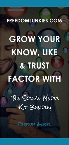 By now you are well aware of the power of social media. In fact, it is now a more powerful marketing platform than any other.  You need to become a social media pro so you too can take advantage of social marketing for your business. // Freedom Junkies